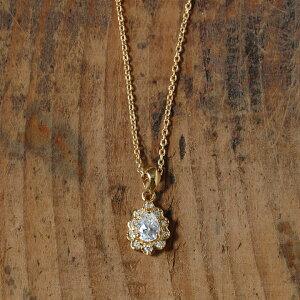 K18 ペアシェイプカット ダイヤモンド ネックレス 「Glandy」