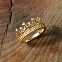 ダイヤモンド ティアラ リング 『Tiara』 指輪 リング レディース 冠 k18 18金 18k k10 10金 10k ゴールド ティアラリング ダイアモンド 大人 女性 上品 かわいい 繊細 クラシカル ring 送料無料 ギフト プレゼント