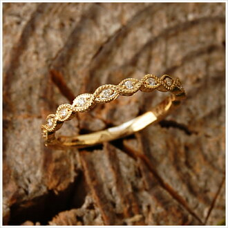 "K18 diamond ring ""Leaf Basic Ring 01' ring ladies diamond gold leaf plant Botanicals 18 k 18 k gold size no. ring gift present jewelry engraved women Japan-anniversary birthday shop 10P06May15"