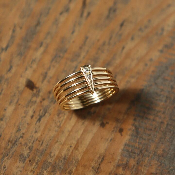 K18 ゴールド ダイヤモンド リング 『Arm Stack Diamond Ring』レディース 指輪 ring 18k 18金 ダイアモンド 大人 女性 上品 送料無料 プレゼント ギフト 卒業式 入学式