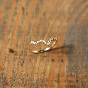 K18 ダイヤモンド リング 「Steps Stack Diamond Ring」