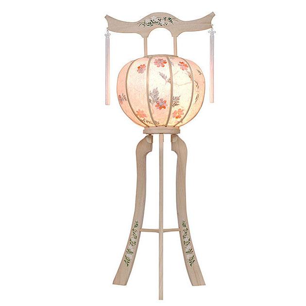 明日着く商品!白を基調にした神道用の木製盆提灯送料無料・毎年一番人気のちょうちんです。【G35ST8425】