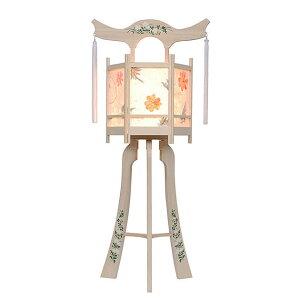 白を基調にした神道用の木製盆提灯送料無料・新デザインの数量限定商品です。【G31ST8437】