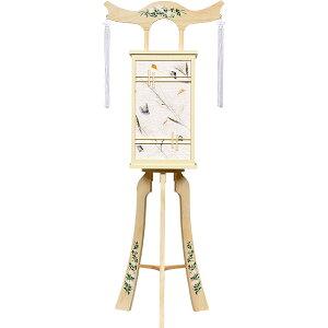 白を基調にした神道用の木製盆提灯送料無料・スタイリッシュな新デザインが素敵です。【G31ST8438】