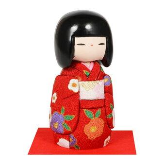 木目込み人形No.1031-A【おぼこ娘・赤】完成品