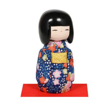 木目込み人形No.1033-A【おぼこ娘・青】完成品
