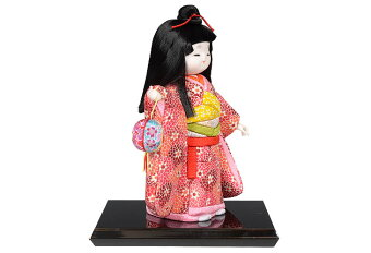 木目込み人形No.1040-A【春風(姉)】完成品