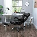 SONGMICS オフィスチェア リクライニングチェア オットマン付き 社長椅子 枕付き 徹底的にリラックス NOBG71B