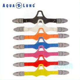 AQUALUNG(アクアラング) 3869 マイスターフィン/マイスタープロフィン用フィンストラップ(バックル付/1本) Strap with One Touch Buckles