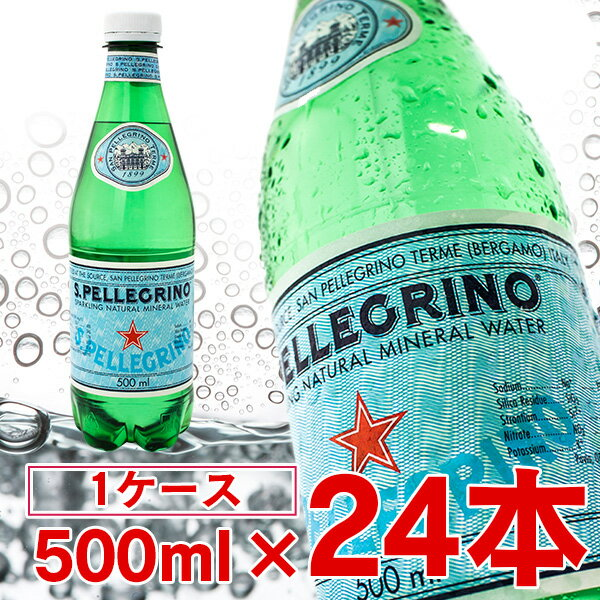 サンペレグリノ 500ml×24本 (炭酸水 イタリア産)