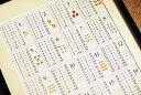 インド式20段「かけ算・九九表」ポスター 20×10段 室内用 知育
