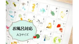 お風呂ポスター「あいうえお表」ひらがな表 A3 ポスター インテリア