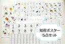 人気の5点 知育ポスターセット♪あいうえお アルファベット すうじ 九九表 日本地図 A4 送料無料