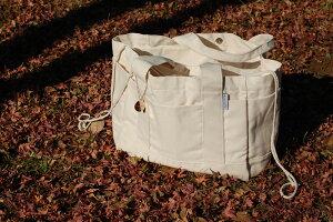 マザーズバッグ 巾着付き コットン ビックトートバッグ ゴールドチャーム付き エコバッグにも♪送料無料 ビッグ 北欧 出産祝い プレゼント ギフト