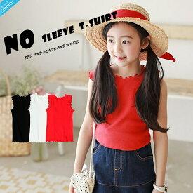 031c778e392df  SOON 夏 新作 ノースリーブ Tシャツ ベーシック 韓国子供服 韓国服 子供服