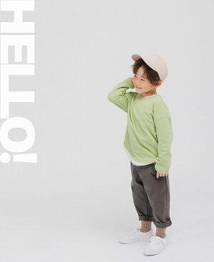 【SOON新作秋】韓国子供服子ども服こども服ふくトップトップス無地レイヤードTシャツ可愛い純綿長袖コットンユニセックス男の子女の子男児女児キッズジュニア90cm100cm110cm120cm130cm