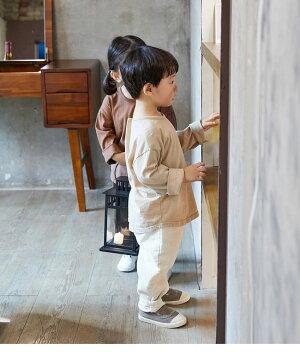 韓国子供服子供服子供服秋全6色長袖Tシャツシンプルラウンドネックトップスシンプルカジュアルナチュラル女の子女児男の子男児キッズジュニアユニセックス100cm110cm120cm130cm140cm150cm160cm