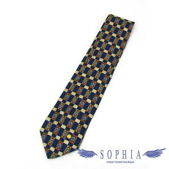 登喜路丝绸领带深蓝系统的