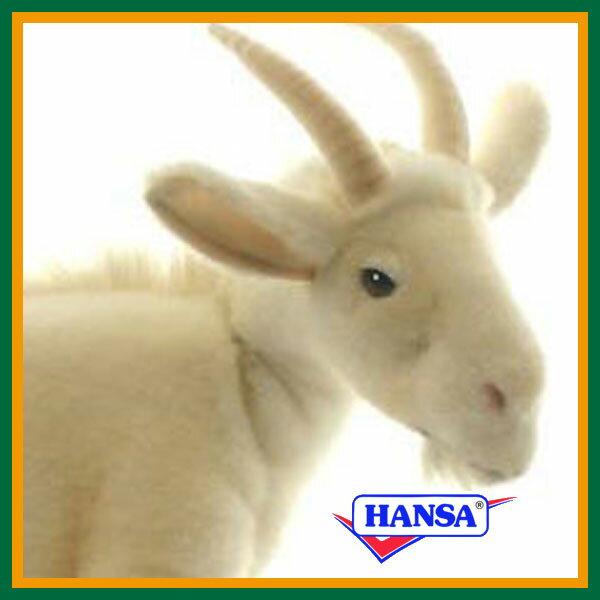 HANSA ハンサ ぬいぐるみ4152 シロヤギ 48 WHITE GOAT