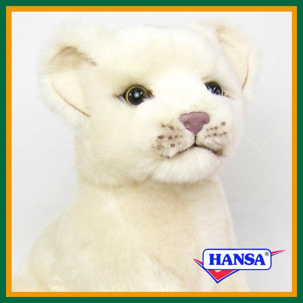 HANSA ハンサ ぬいぐるみ6362 ホワイトライオンの仔 WHITE LION CUB SITING