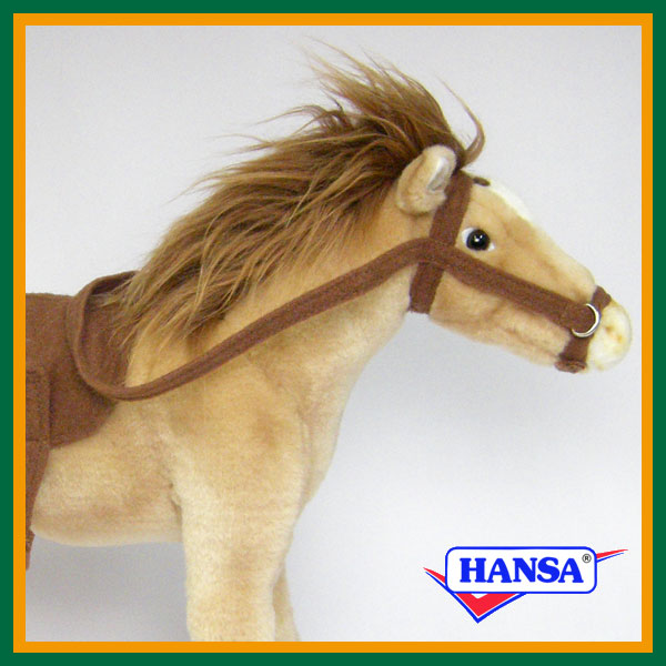 HANSA ハンサ ぬいぐるみ5810 鞍付き馬 HORSE WITH SADDLE