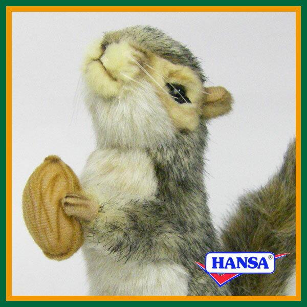 HANSA ハンサ ぬいぐるみ4841 灰色リス GREY SQUIRREL