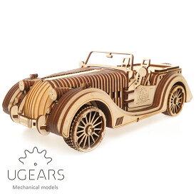 Ugears ユーギアーズ 木製組立立体パズル ロードスター VM-01