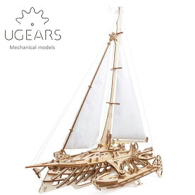 Ugears ユーギアーズ 木製組立立体パズル トリマランヨット