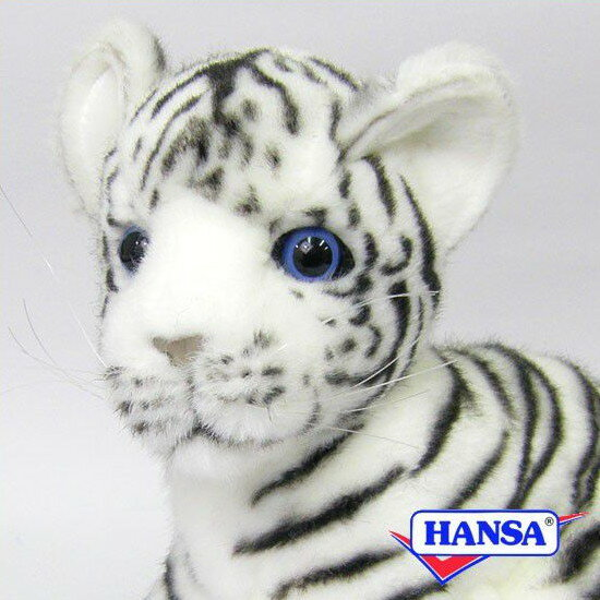 HANSA ハンサ ぬいぐるみ3420 ホワイトタイガーの仔 WHITE TIGER