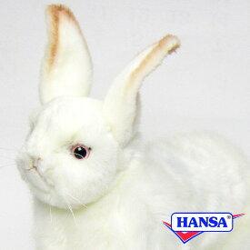 HANSA ハンサ ぬいぐるみ4672 雪ウサギ RABBIT SNOW