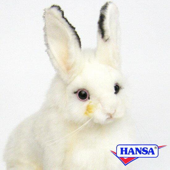 HANSA ハンサ ぬいぐるみ5842 白ウサギ WHITE RABBIT