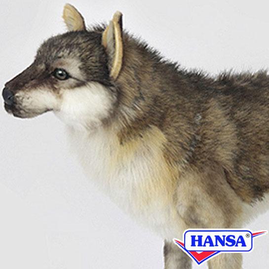 HANSA ハンサ ぬいぐるみ6760 オオカミ WOLF STANDING