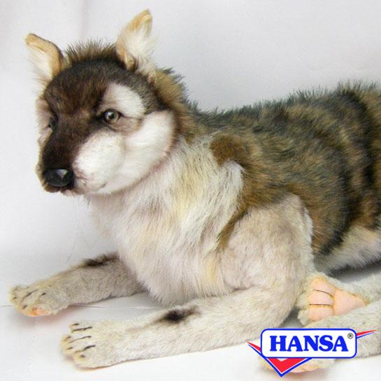HANSA ハンサ ぬいぐるみ6762 オオカミ WOLF LAYING