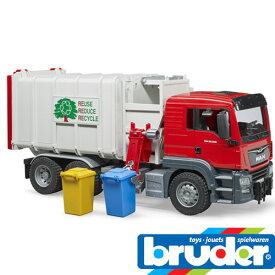 bruder ブルーダー プロシリーズ 03761 MAN 横開きゴミ収集車 RED