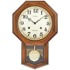 アンティーク電波振り子時計 八角 日本製 さんてる