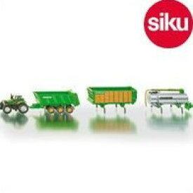 <ボーネルンド> Siku(ジク)社輸入ミニカー1848 ファーマードューツトラクター&トレーラーセット1/87
