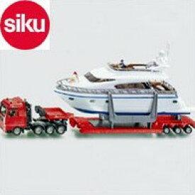 <ボーネルンド> Siku(ジク)社輸入ミニカー1849 トレーラー貨物車ヨット付き
