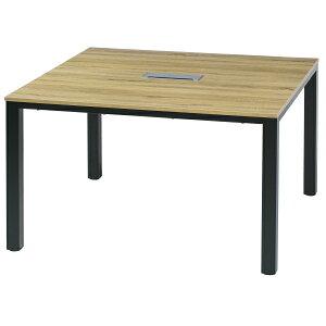 フリーアドレス W1200×D1200×H700【基本SET】 コワーキング GD-655 連結 フリアド ミーティングテーブル 会議テーブル 増連可能 オフィス家具 おしゃれ テーブル 会社 学校 塾 施設 木製【送料無料