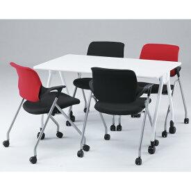 送料無料 セット商品 ミーティングチェア テーブル セット GD-814-815 GD-657 キャスター 肘 カバー付属 イス スタッッキングチェア 会議 テーブル 会議用椅子 ミーティング用 デスク スタックチェア 事務 椅子 ワークチェア オフィスチェア チェア オフィス家具