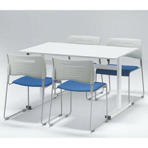 【送料無料】 【お買い得セット】 ミーティングテーブルセット 4人分 ミーティングテーブル1脚+チェア4脚 GD-SET2(GD-540+GD-349) オフィス家具 セット 4人 4人用 会議室セット ミーティングセッ