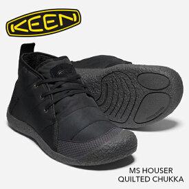 [正規取扱品]【KEEN】キーン MS HOWSER QUILTED CHUKKA(メンズ ハウザー キルテッド チャッカ) 1021895 メンズ ブーツ スニーカー フリース ブラック 黒 防臭加工