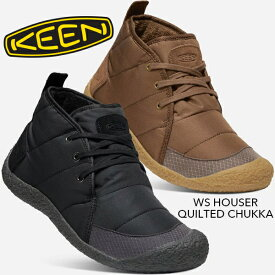 [正規取扱品]【KEEN】キーン WS HOWSER QUILTED CHUKKA(ウィメンズ ハウザー キルテッド チャッカ) 1021867 1021868 ウィメンズ ブーツ スニーカー フリース ブラック 黒 ブラウン 防臭加工