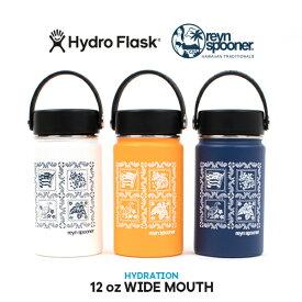 [正規取扱品][送料無料] 【Hydro Flask】ハイドロフラスクreyn spooner 12 oz WIDE MOUTH レインスプーナー 12オンス ワイドマウス 魔法瓶 真空断熱 水筒 保温 保冷 ステンレス ボトル マグ 白 ホワイト ネイビー マンゴ オレンジ
