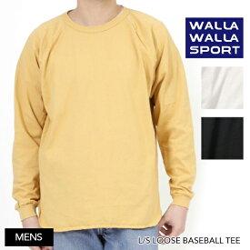[正規取扱品] 【WALLA WALLA SPORT】ワラワラスポーツ L/S LOOSE BASEBALL TEE ロングスリーブルーズベースボールティー 30111S 長袖 メンズ オリーブ マスタード