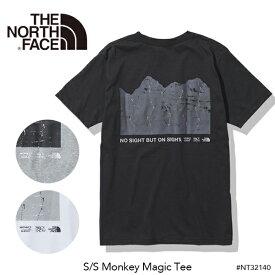 [正規取扱品] 【THE NORTH FACE】2021春夏 ザ・ノースフェイス S/S Monkey Magic Tee ショートスリーブモンキーマジックティー(メンズ) プリントt 半袖 カットソー Tシャツ 黒 ブラック グレー ホワイト 白