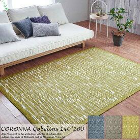 ラグマット CORONNA 140cm×200cm フィンレイソン コロナ(折畳)ゴブラン シェニール ベルギー製 玄関マット 室内 おしゃれ かわいい ブランド 屋内 室内 北欧