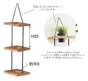 ハンキングプランター壁掛け用3段インテリア置物壁面アジンジ植木鉢ガーデニンディスプレイフラワーベースフェイクグリーンにもぴったり玄関インテリアプラントハンガー