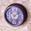 掛け時計 【クロックウォーリア】 23cm円形 アンティーク風のレトロ 時計 アンティーク ウォールクロック 壁掛け時計 おしゃれ アンティーク 時計 壁掛け