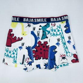 BAJA SMILE(バハスマイル) 2160410 落書き恐竜柄 XS(95-105)・S(105-115)・M(115-125)・L(125-135)・XL(135-145) 安心安全な綿100%フライス素材の男の子パンツ