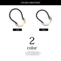 ラウンドメタルデザインヘアゴム新発売セール